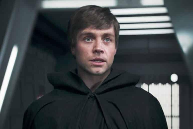 Digitally De-Aged Mark Hamill as Luke Skywalker