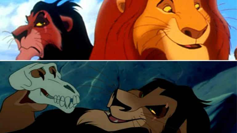 scar ate mufasa the lion king