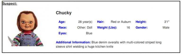 Chucky Doll Texas Kidnapper