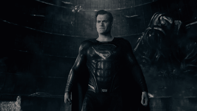 Henry Cavill superman black suit justice league