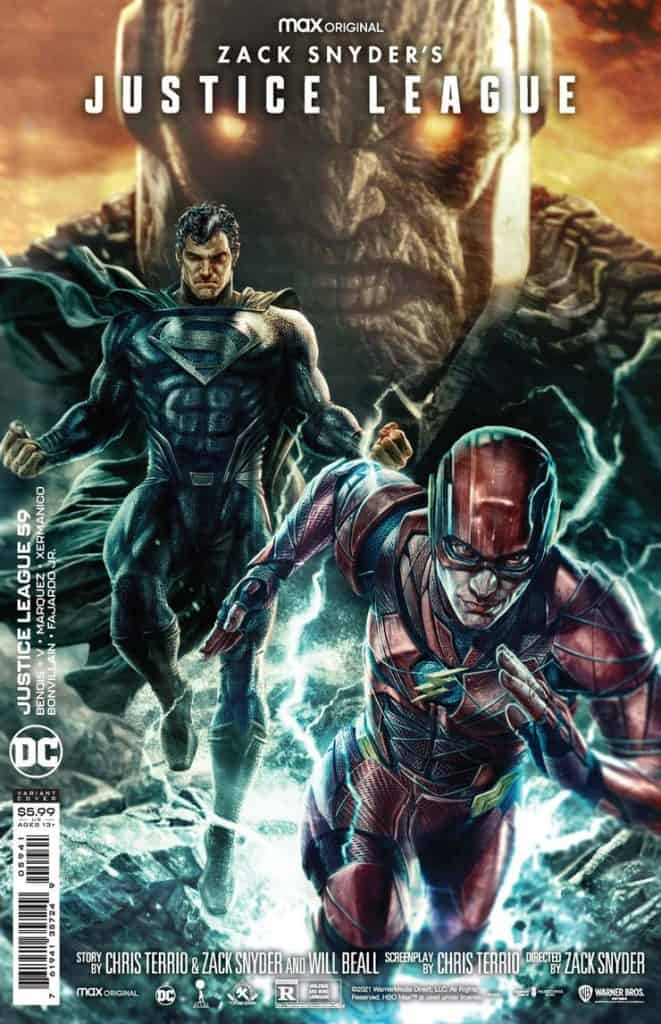 Zack Snyder's Justice League Comic Book Variant Cover Justice League #59