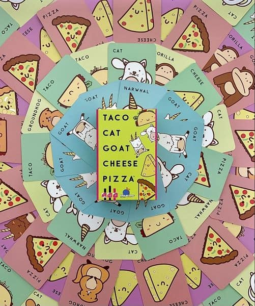 Taco Cat Goat Cheese Pizza Board Game Card Review