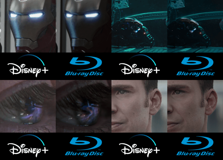 Blu-ray comparison to Streaming