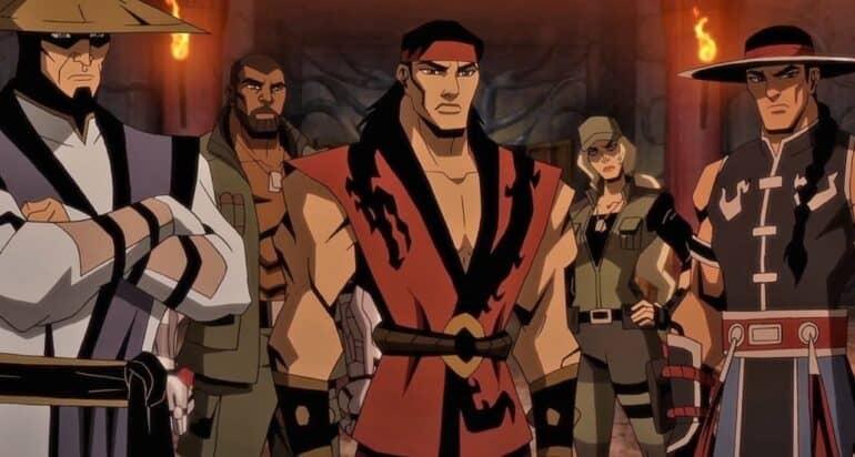 Liu Kang Raiden Sonya Blade Kung Lao and Jax in Mortal Kombat Legends Battle of the Realms