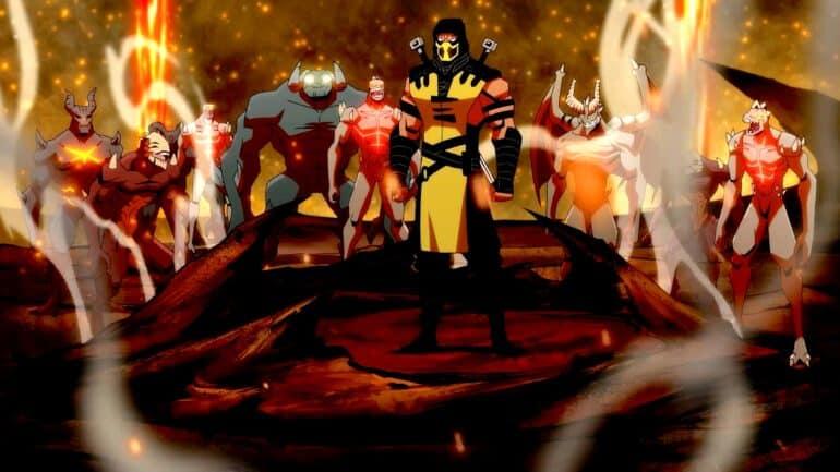 Scorpion in Mortal Kombat Legends Battle of the Realms