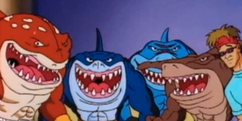 Screenshot from the Street Sharks animated series