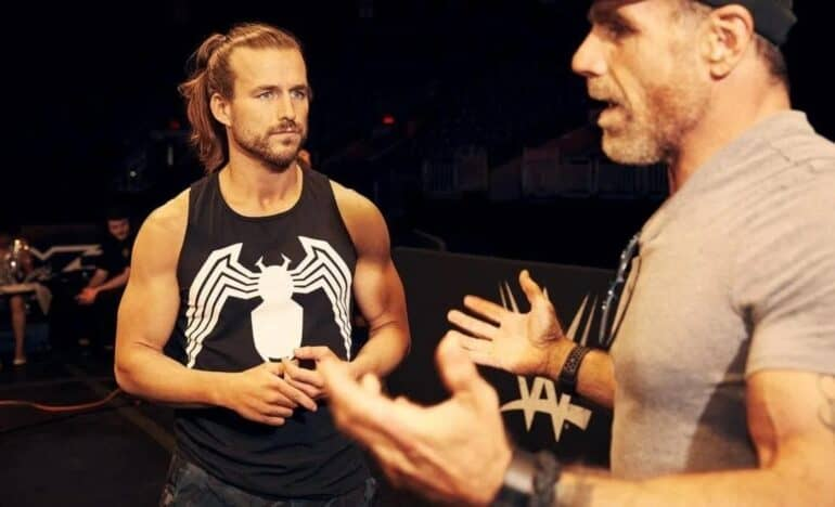 Adam Cole and Shawn Michaels in WWE NXT
