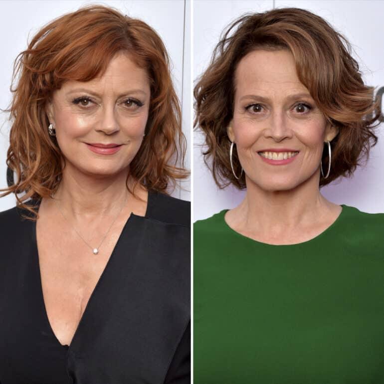 Susan Sarandon and Sigourney Weaver Actors Who Look Alike