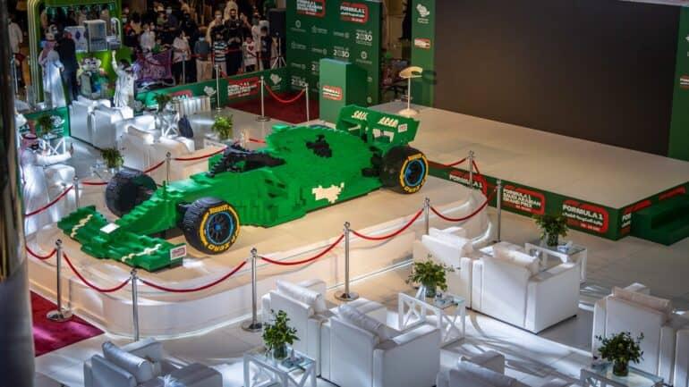 World's Largest LEGO Formula 1 Car Gets Built in Saudi Arabia